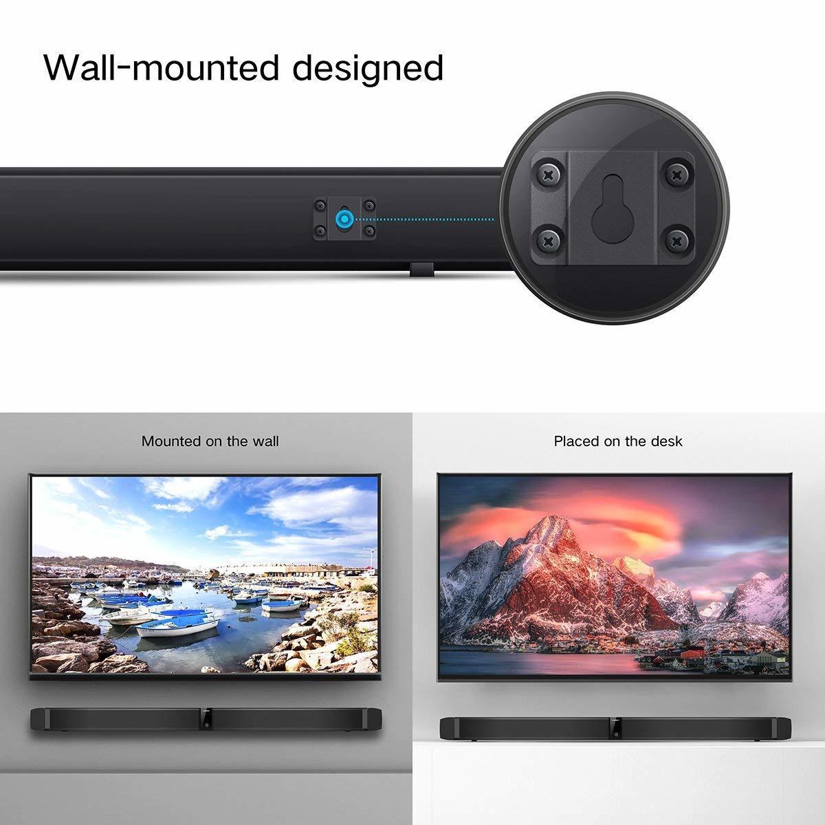 サウンドバー スピーカー ホームシアターシステム ワイヤレス フロントサラウンドシステム Bluetooth 高音質 重低音30W テレビ PC USB _画像6