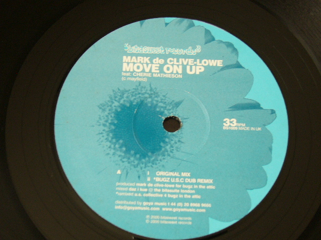 MARK DE CLIVE-LOWE Feat. CHERIE MATHIESON / MOVE ON UP / 2000年盤 / BS 1009 / UK盤 / 試聴検査済み_画像1