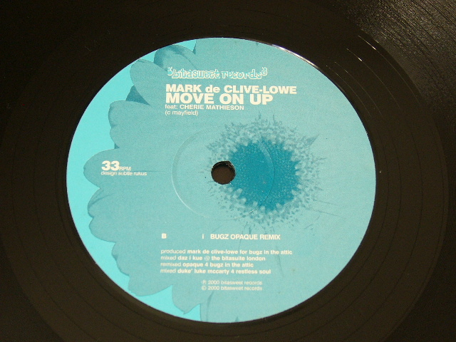 MARK DE CLIVE-LOWE Feat. CHERIE MATHIESON / MOVE ON UP / 2000年盤 / BS 1009 / UK盤 / 試聴検査済み_画像2