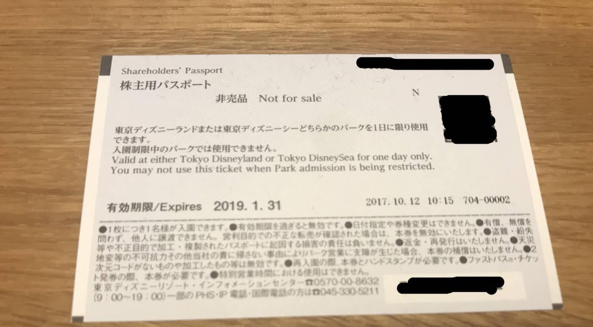 【東京ディズニーリゾート】株主優待券パスポートチケット2枚組_画像2