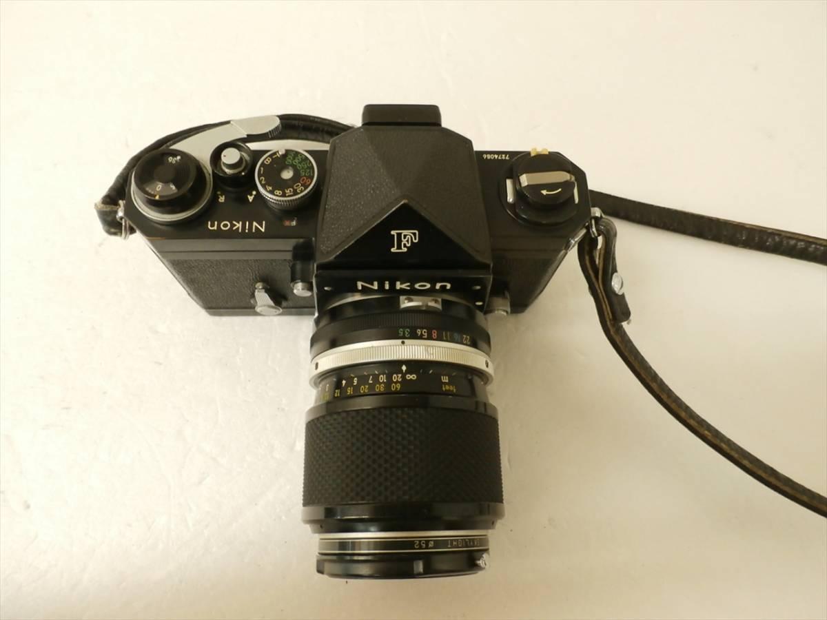 1円~Nikon F エフ 一眼レフフィルムカメラ レンズ 1:3.5 f43~86mm ニコン_画像3