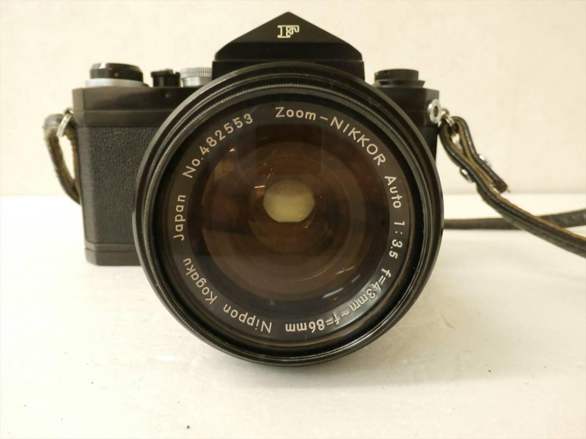 1円~Nikon F エフ 一眼レフフィルムカメラ レンズ 1:3.5 f43~86mm ニコン_画像4