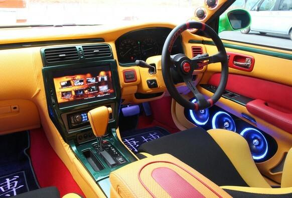 完全売り切り 愛知 込み込み ワンオフ Y33シーマ フルカスタム 社外ブレーキ オーディオ イベントcar 車検31年10月まで車検有り。_画像7