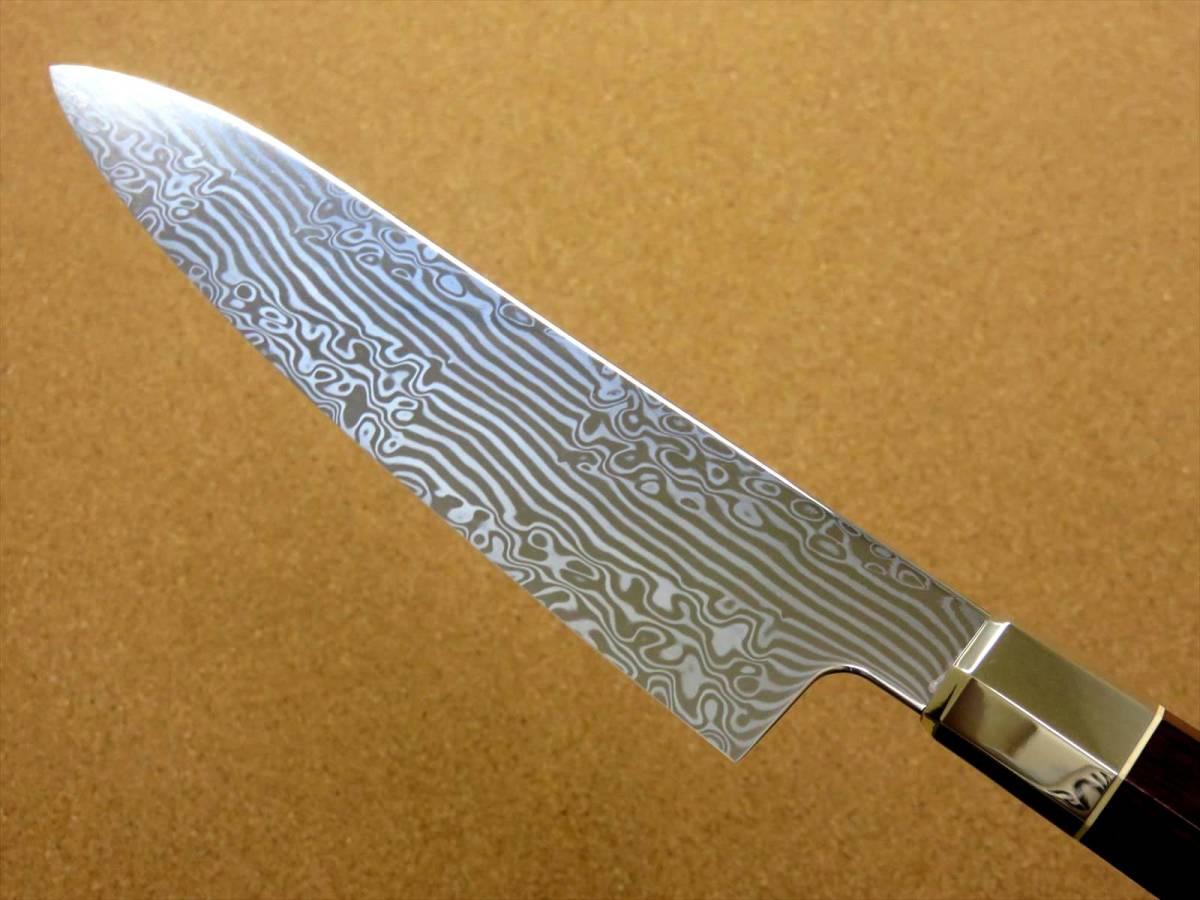 関の刃物 牛刀 18cm (180mm) 三昧 荒波 VG-10 VG-2 コアレス鋼ステンレス 赤合板 精肉の仕分け 魚の処理 野菜切りなど 両刃万能包丁 日本製_画像5