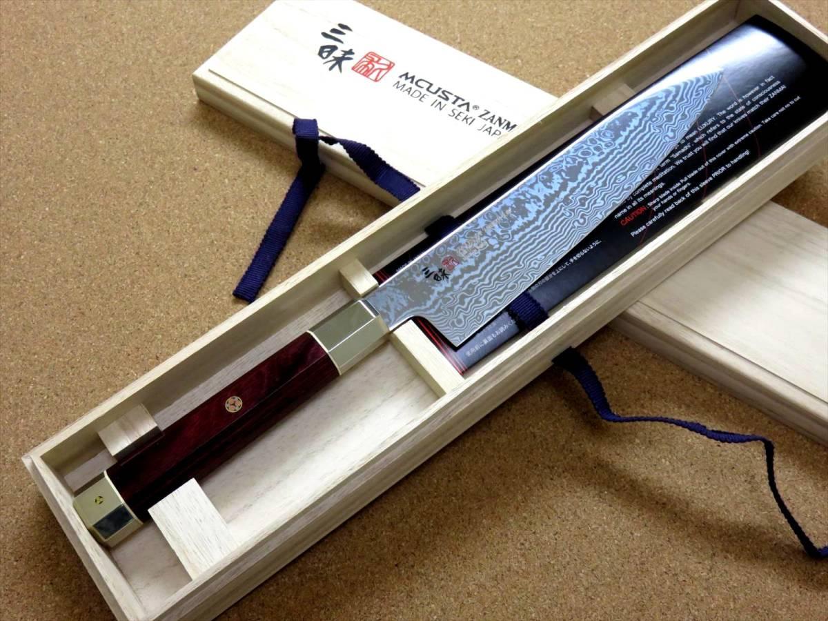 関の刃物 牛刀 18cm (180mm) 三昧 荒波 VG-10 VG-2 コアレス鋼ステンレス 赤合板 精肉の仕分け 魚の処理 野菜切りなど 両刃万能包丁 日本製_画像10
