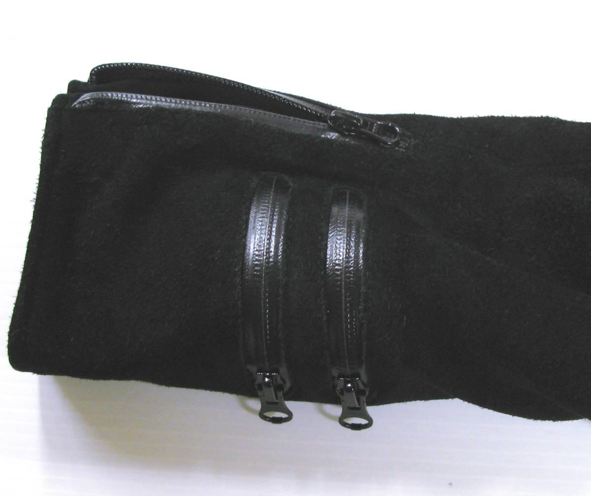 アンダーカバー UNDER COVER:バックスキン レザー ライダース ブルゾン (ジャケット 本革 UNDER COVER Leather jacket SUMMER MADNESS_画像6