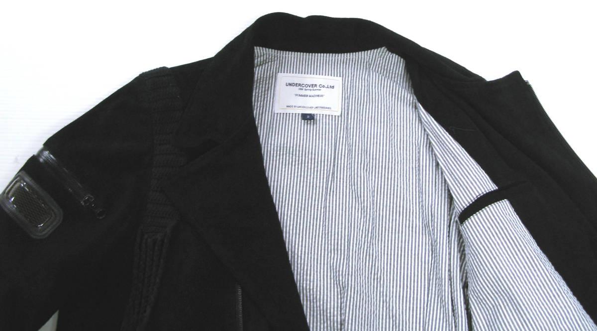 アンダーカバー UNDER COVER:バックスキン レザー ライダース ブルゾン (ジャケット 本革 UNDER COVER Leather jacket SUMMER MADNESS_画像5