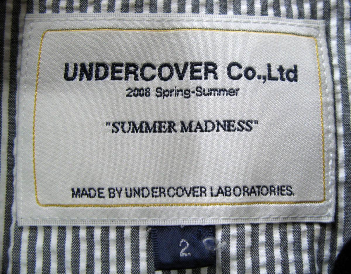 アンダーカバー UNDER COVER:バックスキン レザー ライダース ブルゾン (ジャケット 本革 UNDER COVER Leather jacket SUMMER MADNESS_画像7