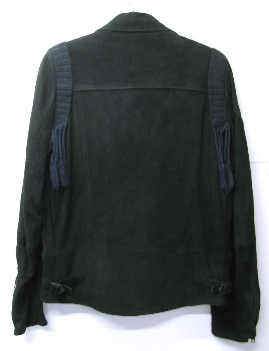 アンダーカバー UNDER COVER:バックスキン レザー ライダース ブルゾン (ジャケット 本革 UNDER COVER Leather jacket SUMMER MADNESS_画像3