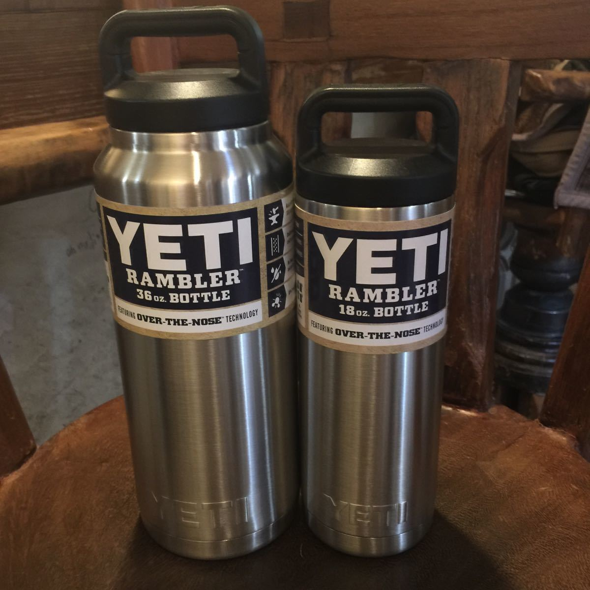 2個組 YETI イエティ RAMBLER Bottle 36oz (約1060ml) RAMBLER Bottle 18oz クーラーボトル 水筒