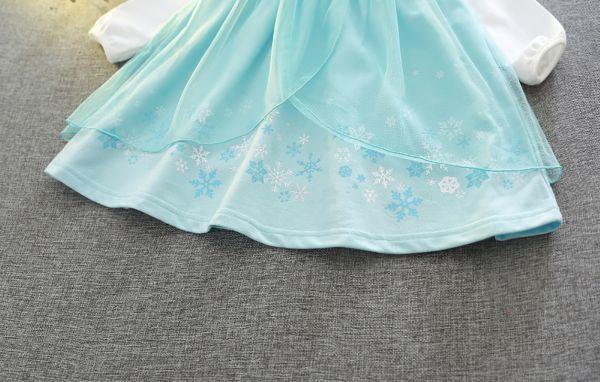 新品 アナと雪の女王 エルサ コスプレ ドレス ワンピース ハロウィン 仮装 女の子 女王 姫 コスチューム 発表会 送料無料 100_画像4