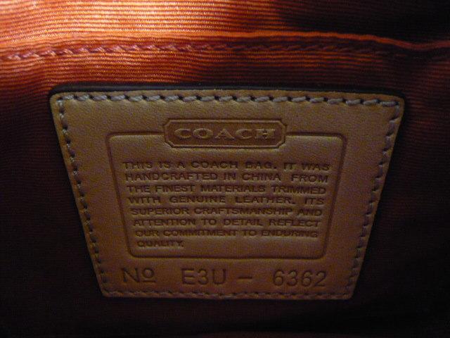 【新品】正規店購入COACHコーチ シグネチャーブラウン6362 保存袋つき ミニバッグポーチショルダーバッグ_画像3