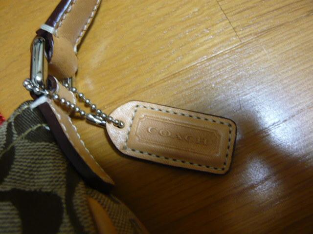 【新品】正規店購入COACHコーチ シグネチャーブラウン6362 保存袋つき ミニバッグポーチショルダーバッグ_画像5