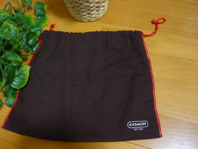 【新品】正規店購入COACHコーチ シグネチャーブラウン6362 保存袋つき ミニバッグポーチショルダーバッグ_画像8