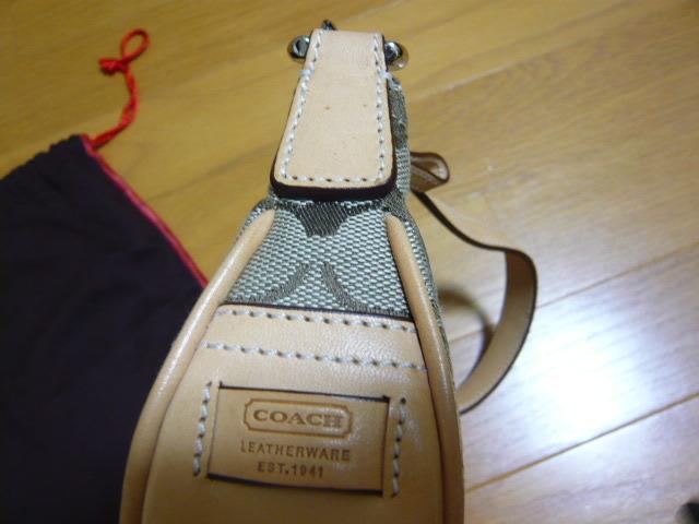 【新品】正規店購入COACHコーチ シグネチャーブラウン6362 保存袋つき ミニバッグポーチショルダーバッグ_画像9