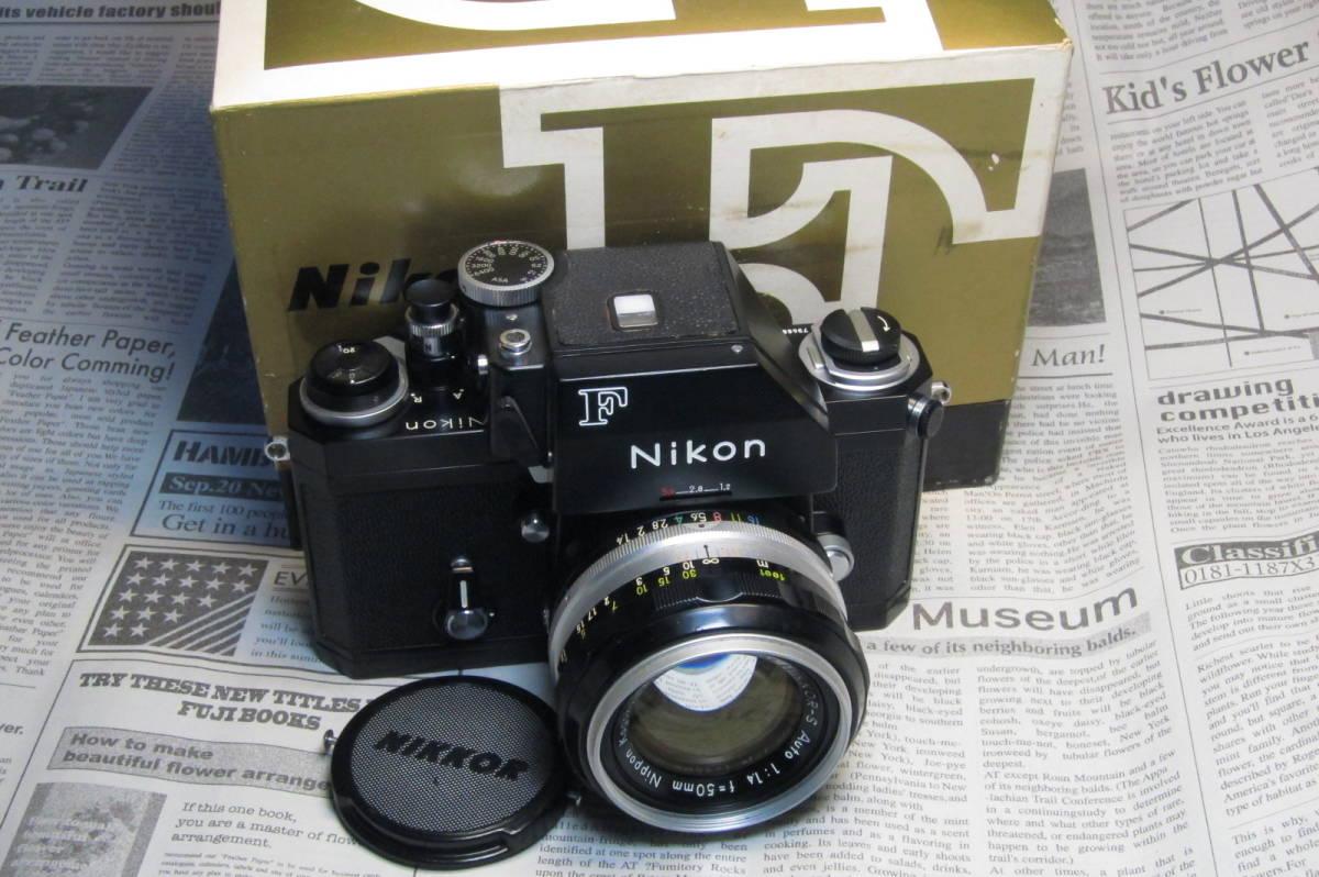 美品 後期型 Nikon F フォトミックFTN ブラック 50mm 1:1.4 元箱付