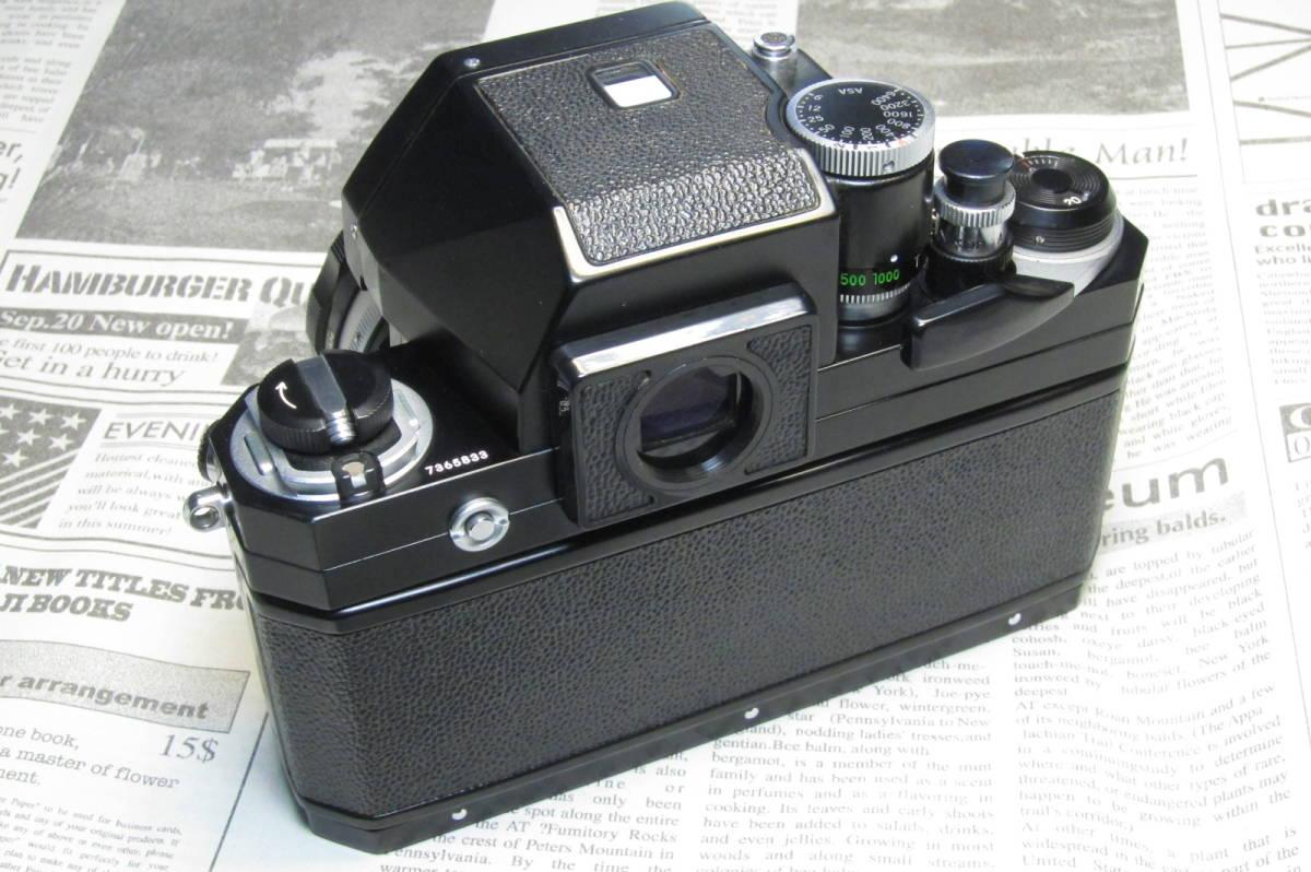 美品 後期型 Nikon F フォトミックFTN ブラック 50mm 1:1.4 元箱付_画像5