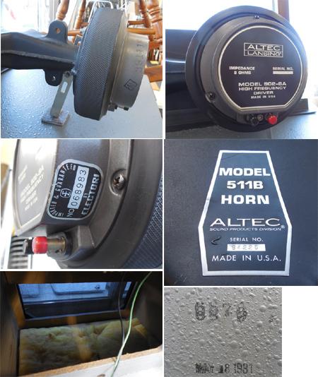 ALTEC LANSING/アルテック◇A7 エンクロージャー スピーカー ホーン ユニット 902-8A 511B HORN N1201-8A 札幌市内限定_画像8