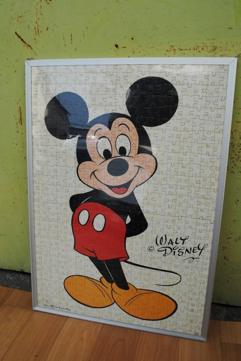B790 ジグソーパズル完成品3点セット◆ミッキーマウス/ディズニー/JIGSAW GALLERY/スタジオ/宇宙/星座/額入り/インテリア/壁掛け/中古品◇_小さいサイズ ひとりミッキー