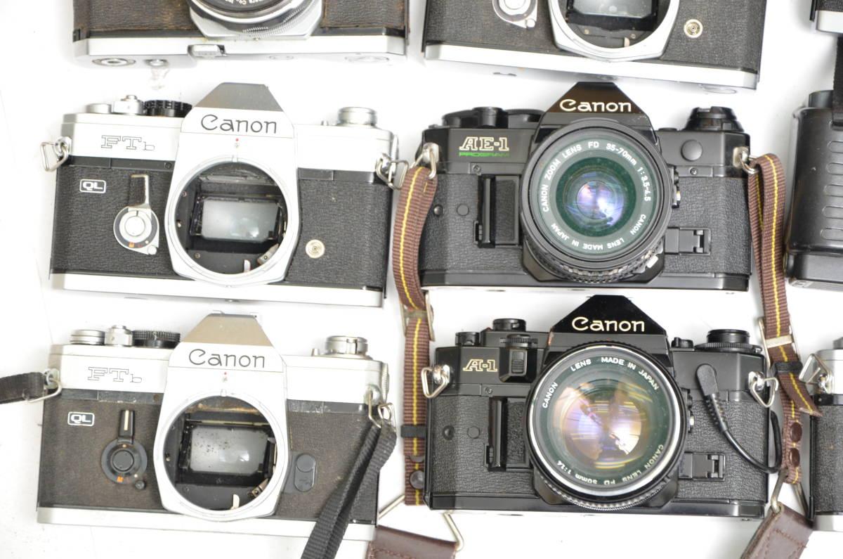 S32 Canon キヤノン AE-1 A-1 FTb 他 一眼レフカメラ レンズ まとめて 大量 セット_画像3