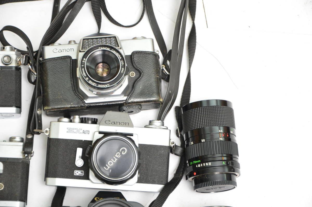 S32 Canon キヤノン AE-1 A-1 FTb 他 一眼レフカメラ レンズ まとめて 大量 セット_画像5