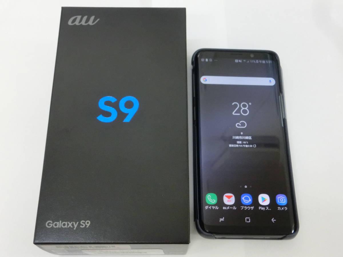 ◆新品◆ au Galaxy S9 SCV38 チタニウムグレー 純正カバー付き △判定のためジャンク