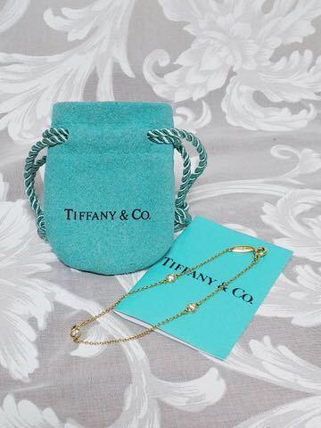 ::: ティファニー・TIFFANY & Co. K18YG ダイヤモンド バイザヤードブレスレット :::