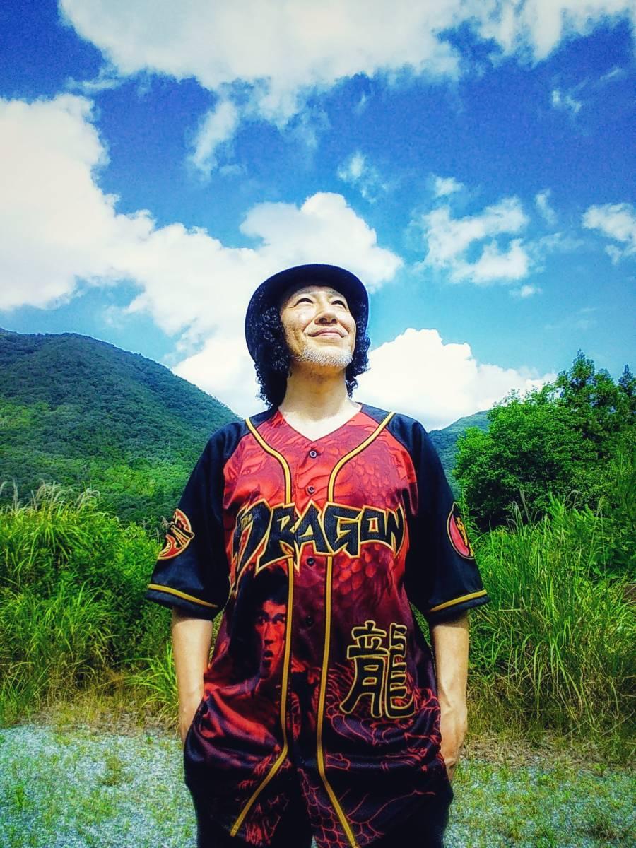 【お宝】ブルース・リー★ザ・ドラゴン 公式シャツ【L】BRUCE LEE_YUSAKU LEE COLLECTION