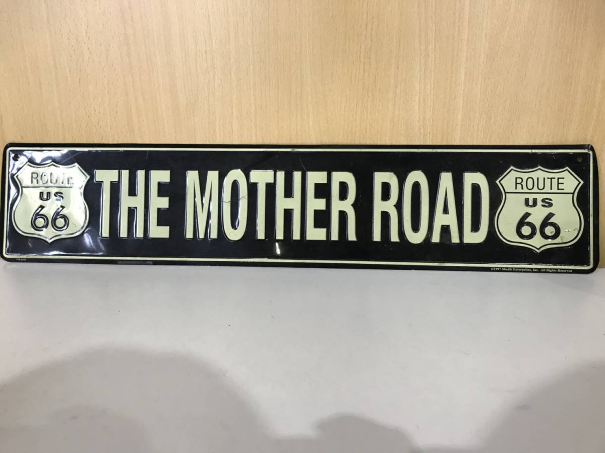 (55)THE MOTHER ROAD 看板 飾り_画像1