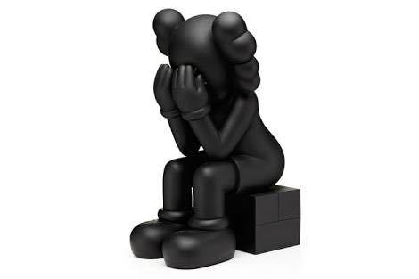 【激レア】完売品 kaws passing through black open edition カウズ medicom toy メディコム トイ 1/6 project 新品未使用 ベアブリック_画像1