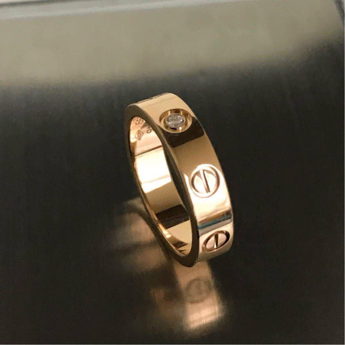 Cartier★カルティエ ラブリング★K18PG 1p ダイヤモンドリング 46 指輪 ウエディング ピンクゴールド_画像2