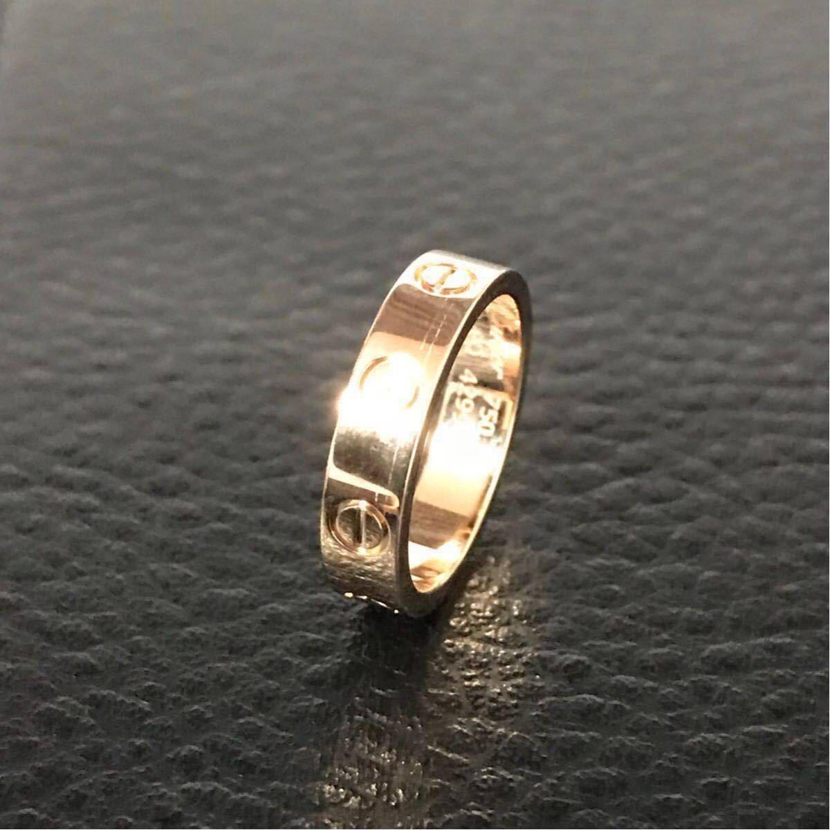 Cartier★カルティエ ラブリング★K18PG 1p ダイヤモンドリング 46 指輪 ウエディング ピンクゴールド_画像5