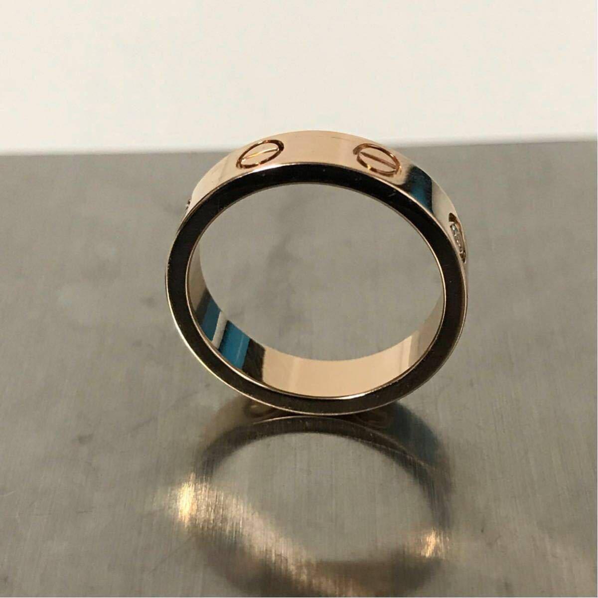 Cartier★カルティエ ラブリング★K18PG 1p ダイヤモンドリング 46 指輪 ウエディング ピンクゴールド_画像3