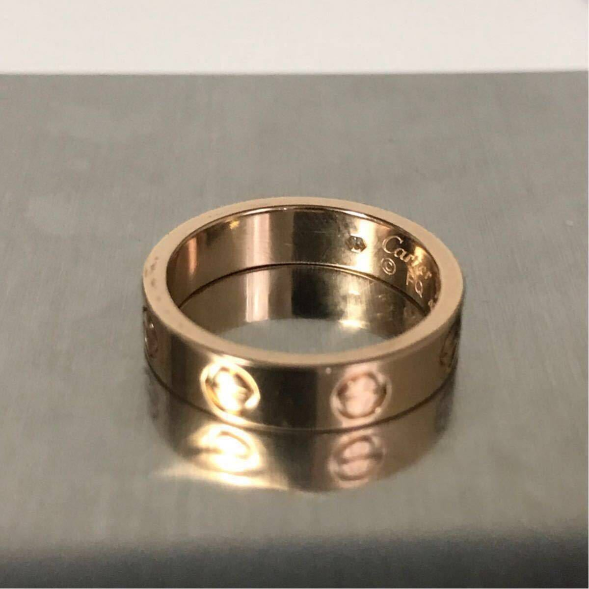 Cartier★カルティエ ラブリング★K18PG 1p ダイヤモンドリング 46 指輪 ウエディング ピンクゴールド_画像4