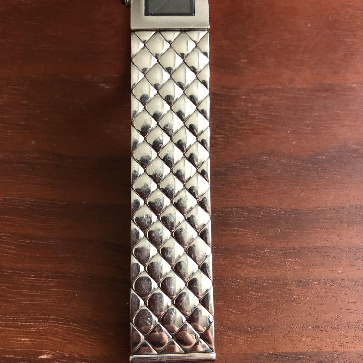 1円 シャネル CHANEL マトラッセ クォーツ ステンレス 腕時計 不動品_画像8