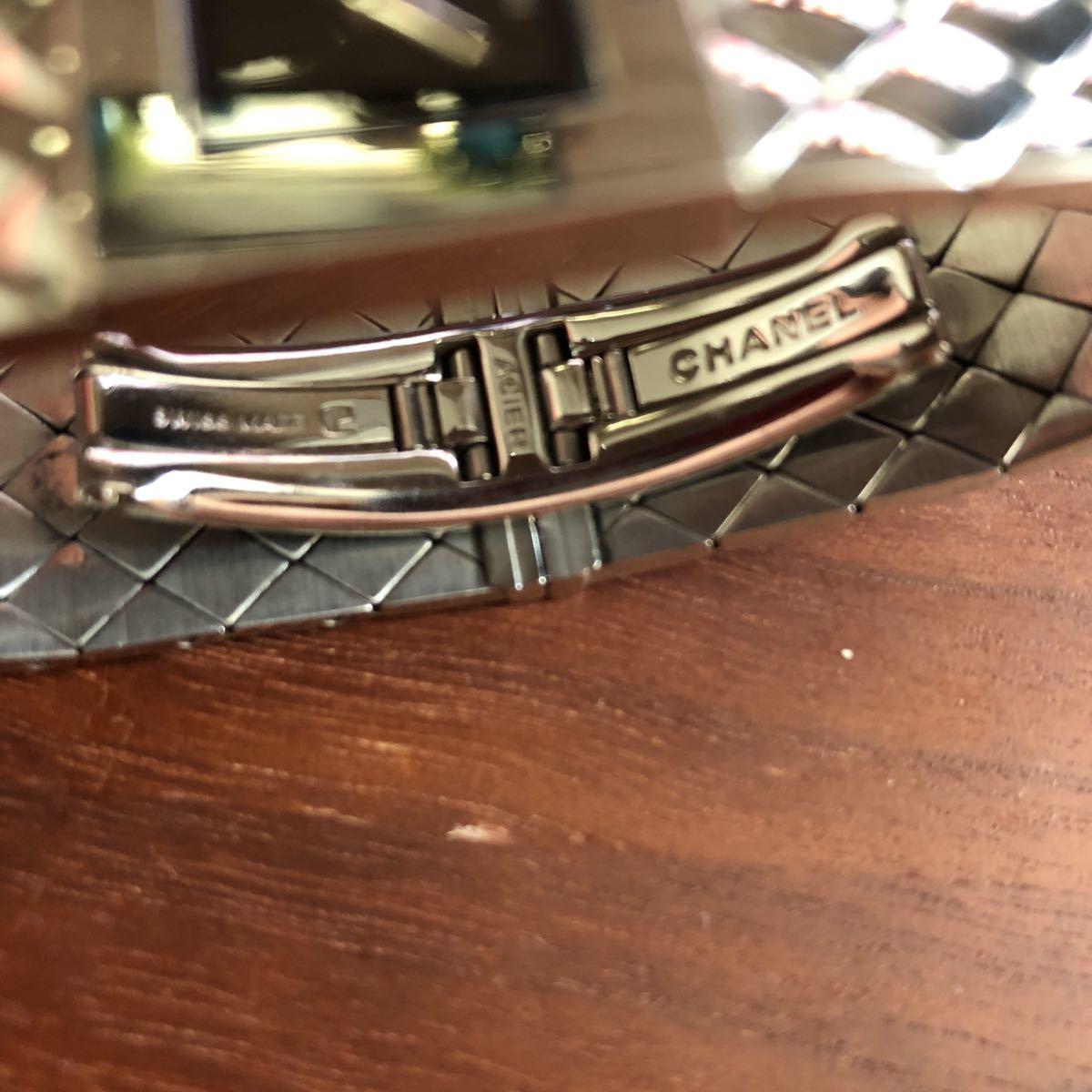 1円 シャネル CHANEL マトラッセ クォーツ ステンレス 腕時計 不動品_画像9