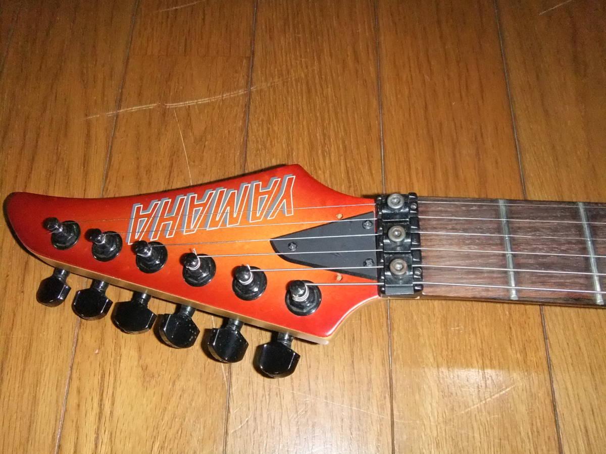 YAMAHA RGX-621D ハーフスキャロップ 極上美品! ヤマハ 80s VINTAGE ヴィンテージ チェリーサンバースト サテンフィニッシュ テクニカル ST_弦高ペタペタの低弦高で圧巻の弾き易さ!