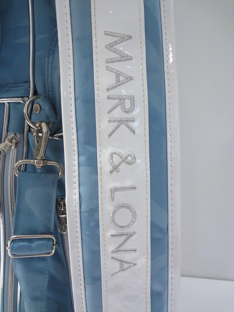 ■美品■マークアンドロナ キャディーバッグ 小物セット MARK&LONA/クラブケース/青/ブルー/スカル/ドクロ/ゴルフ用品/レディース_画像3