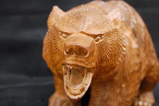 八雲町 木歩 引間二郎 木彫り 熊 全長 約 28cm 1979 札幌発_画像2
