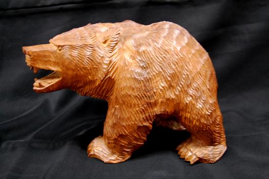 八雲町 木歩 引間二郎 木彫り 熊 全長 約 28cm 1979 札幌発_画像3