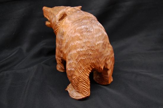八雲町 木歩 引間二郎 木彫り 熊 全長 約 28cm 1979 札幌発_画像6