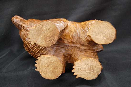 八雲町 木歩 引間二郎 木彫り 熊 全長 約 28cm 1979 札幌発_画像7