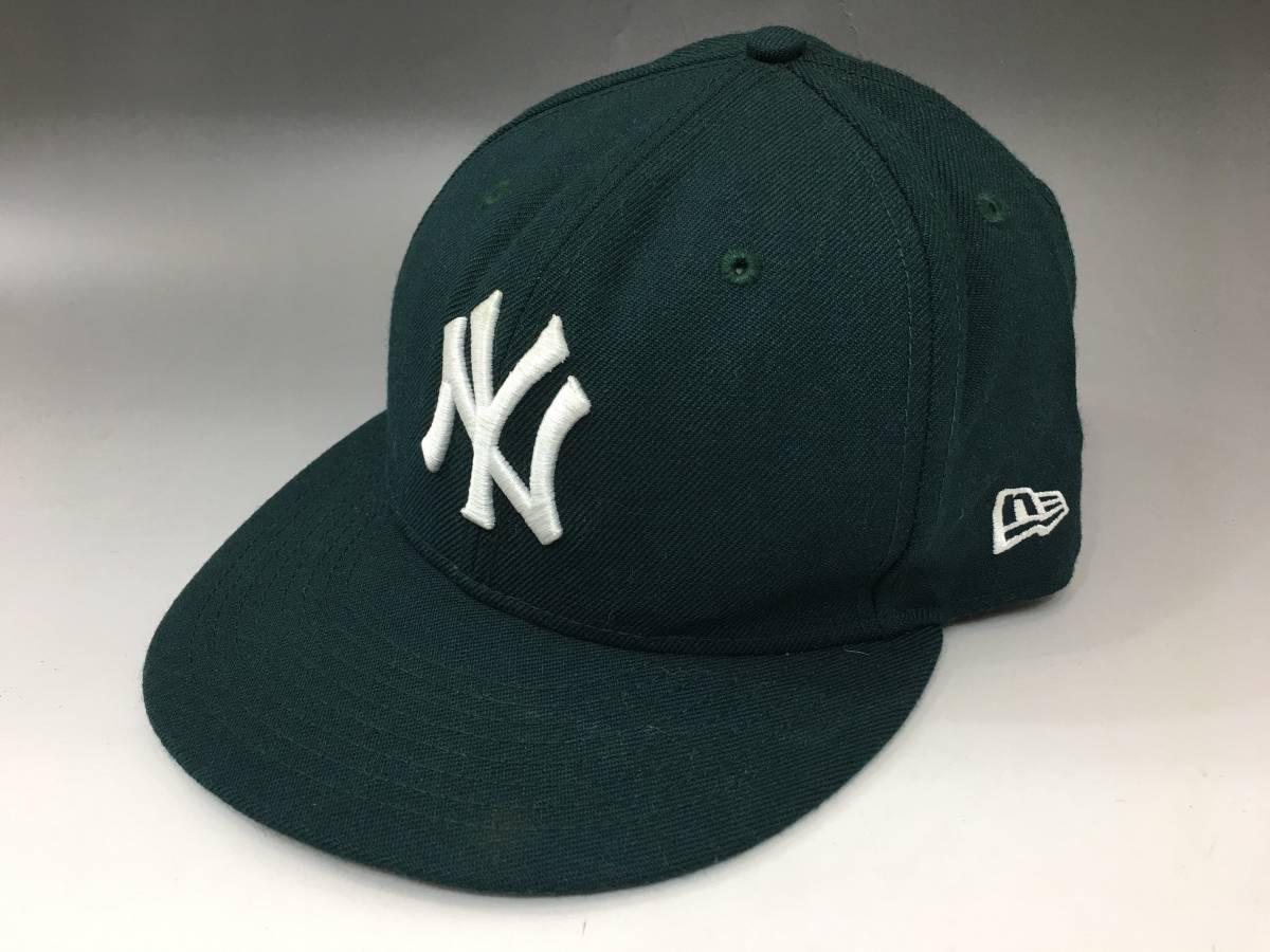 292093c857a95 代購代標第一品牌- 樂淘letao - 美品ニューエラNEW YORK YANKEES ベースボールキャップ59FIFTY サイズ7  3/8(58.7㎝) ダークグリーンNEW ERA NY ヤンキース