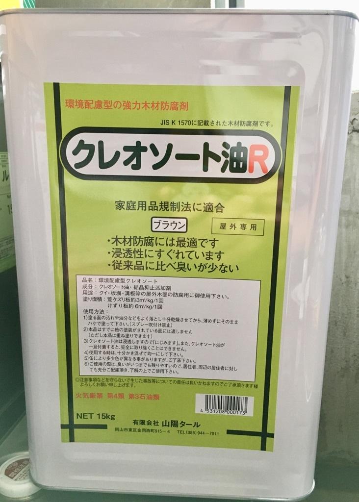 強力木材防腐材「環境配慮型 クレオソート油R 15㎏」 株式会社 二和田商店_画像1