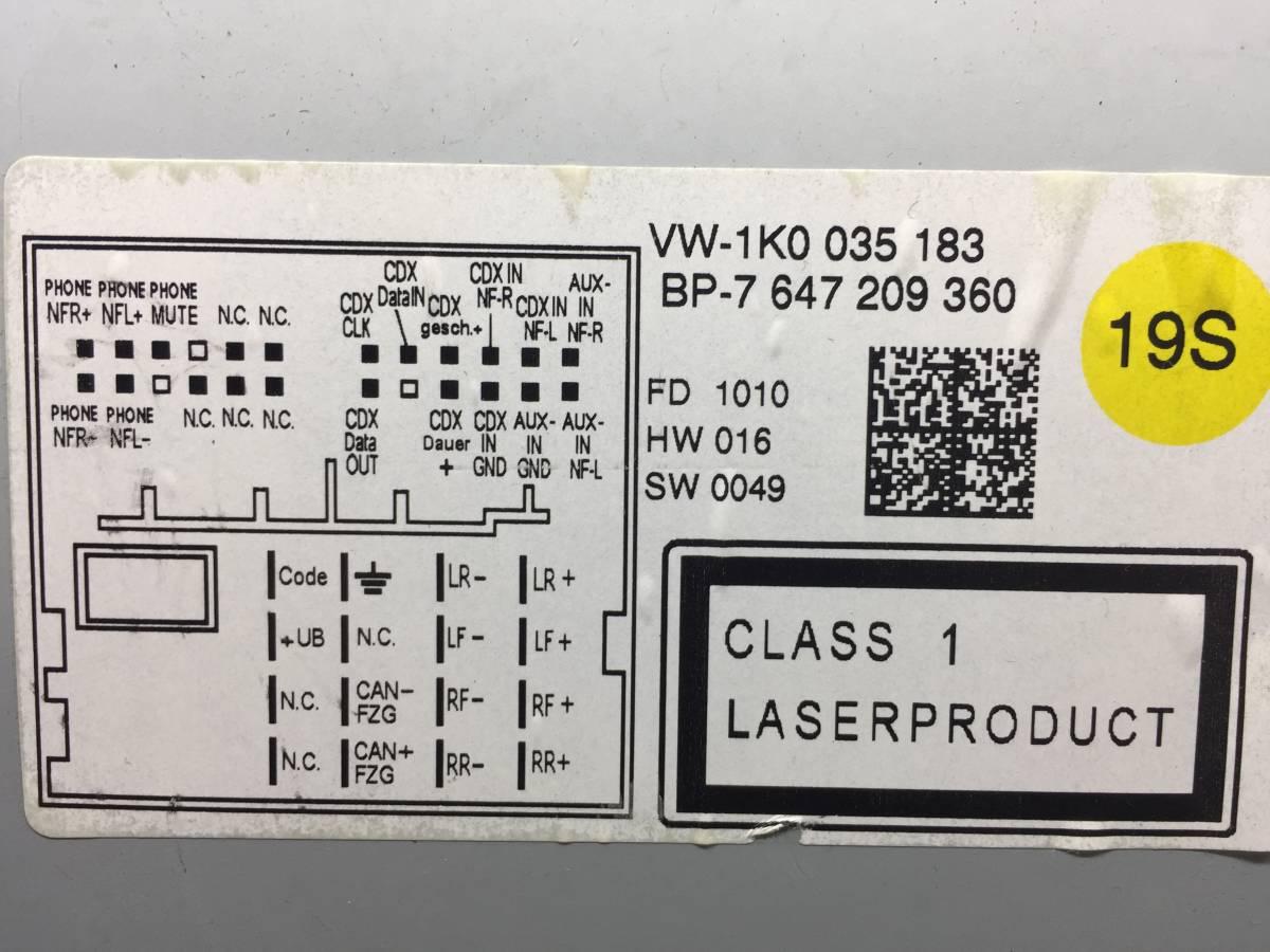 す-406 VW フォルクスワーゲン純正 VW-1K0 035 183 即決 保障付_画像3