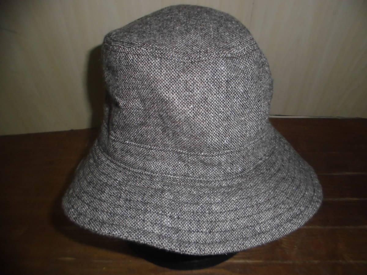 j520 J.PRESS bucket hat   J Press F free size light brown tea color series  wool poly- material autumn winter hat 0i 22622c748d2