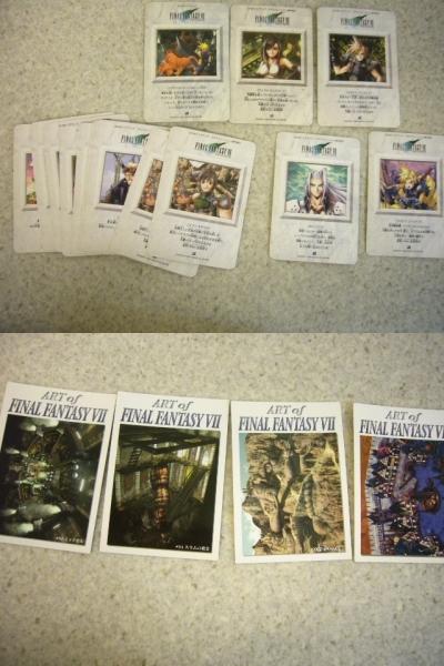 1505♪ ファイナルファンタジー 7 カードダス 125枚セット カード FF キラ プリズム クラウド/セフィロス/チョコボ/ユフィ 天野喜孝 など_画像7