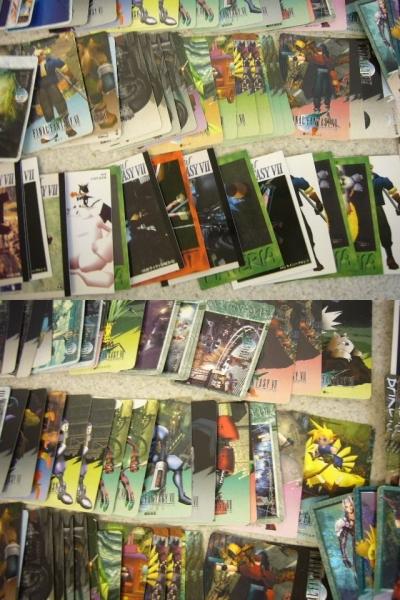 1505♪ ファイナルファンタジー 7 カードダス 125枚セット カード FF キラ プリズム クラウド/セフィロス/チョコボ/ユフィ 天野喜孝 など_画像3