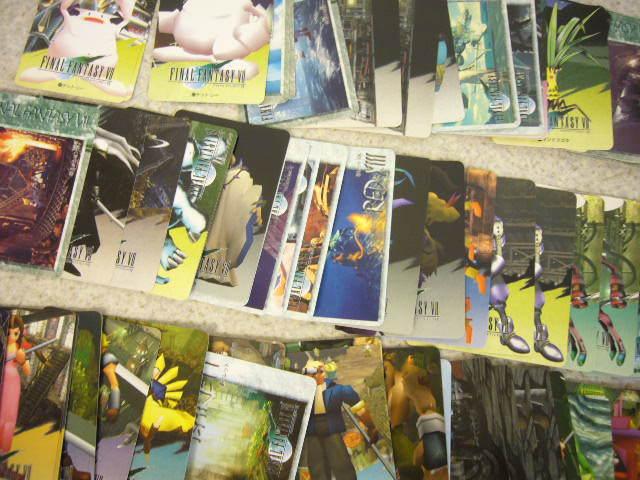 1505♪ ファイナルファンタジー 7 カードダス 125枚セット カード FF キラ プリズム クラウド/セフィロス/チョコボ/ユフィ 天野喜孝 など_画像2
