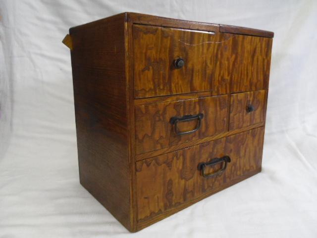 E33◇時代 裁縫箱 針箱◇小物入 小箪笥 小引き出し◇道具箱 和家具◇